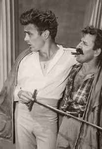 From photos taken by Sanford Roth while at Warner Bothers Studios shooting East of Eden, with Greek actor Nick Dennis