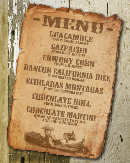 The menu for our party