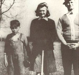 Young James Dean with his Aunt Ortense and Uncle Marcus Winslow.