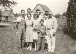 L to R Marcus Winslow, Charlie Nolan Dean (behind. Winton's brother, Ortense Winslow, Joan Winslow, Charlies' wife (behind,) Jimmy Dean, Emma and Charles Dean (grandparents).