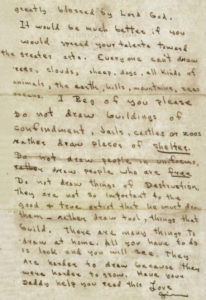 Letter to Markie. (Click to see larger)