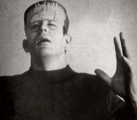 James Dean as Frankenstein's Monster, 1948.