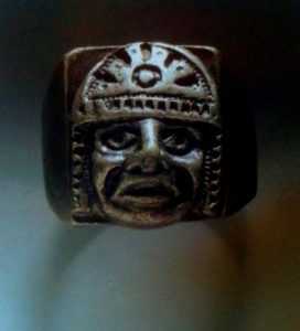 Jim's Mayan-styled ring.