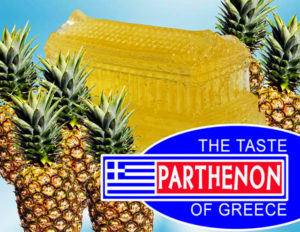 A Parthenon pineapple jello mold is not a traditional Greek recipe either...