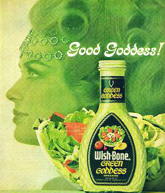 a 1960s Wish Bone Green Goddess ad